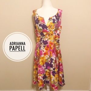 Adrianna Papell Floral Dress L 12